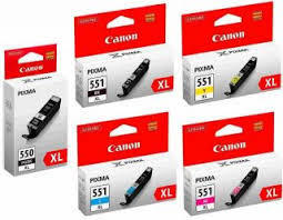 CLI-551XLPGI-550XL(5) Multipack zu Canon mitChip 22/4x11ml